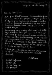 Dear Steve LETTER black